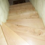 Habillage d'escalier béton en bois